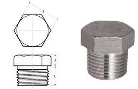 Hexagonal Plug Class #3000 Carbon Steel