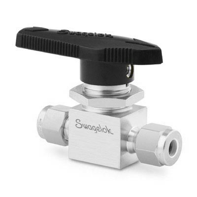 Swagelok Ball Valve, 1.4 Cv, 1/4 in. Swagelok Tube Fitting