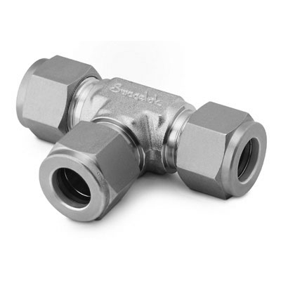 Swagelok Tube Fitting, Union Tee, 1/4 in. Tube OD