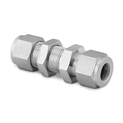 Swagelok Tube Fittings, Stainless Steel , Bulkhead Union, 1/4 in. Tube OD