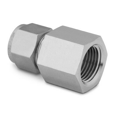 Swagelok Stainless Steel Tube Fitting, Female Connector, 1/4 in. Tube OD x 1/4 in. Female NPT