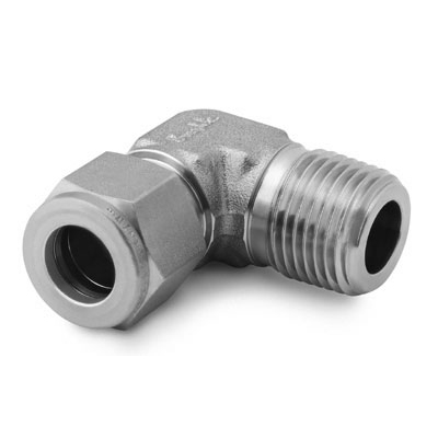 Swagelok Stainless Steel Tube Fitting, Male Elbow, 1/4 in. Tube OD x 1/4 in. Male NPT