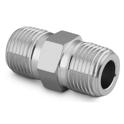 Swagelok Stainless Steel Pipe Fitting, Hex Nipple,  Male NPT