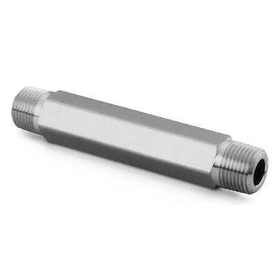 Swagelok Stainless Steel Pipe Fitting, Hex Long Nipple, 1 in. Male NPT, 3 in. Length