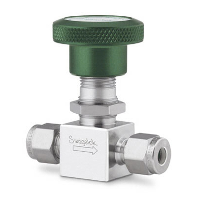 Swagelok Stainless Steel Bellows Sealed Valve, Welded, SS Stem Tip, 1/4 in. Swagelok Tube Fitting