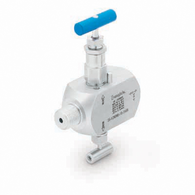 Swagelok Stainless Steel Instrumentation Isolation Block and Bleed Valve, 1/2 in. Male NPT