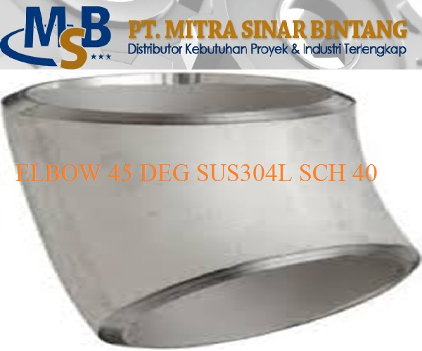 Elbow 45 Deg Stainless Steel Sus304L