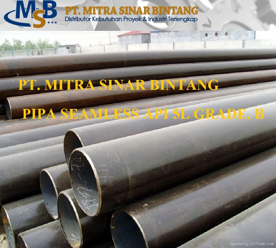 Pipa Seamless Carbon Steel Astm Api 5L Grade B