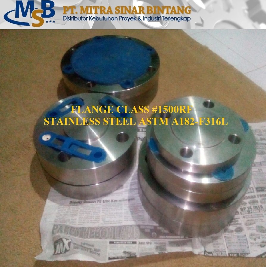 Blind Flange Class #1500 Stainless Steel SS316L